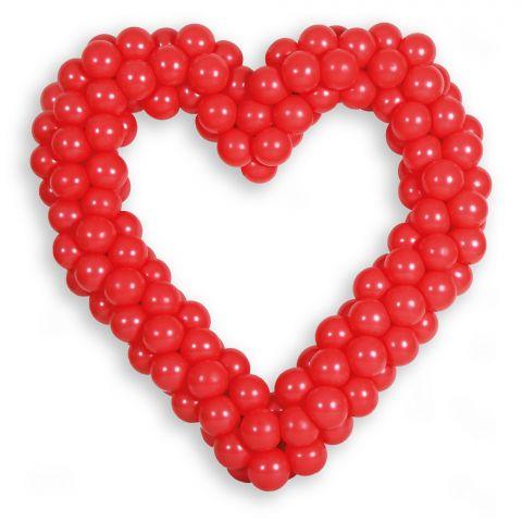Großes Easy-Fix-Herz mit roten Luftballons