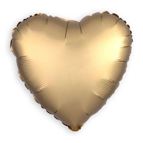 Folienballon Herz Gold (43 cm)