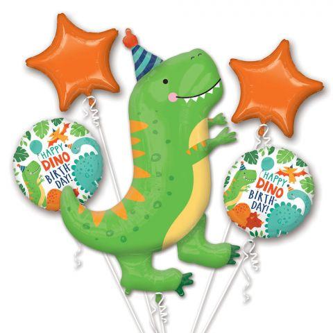 "Bouquet ""Dino-Mite Party"" 5 Folienballons"