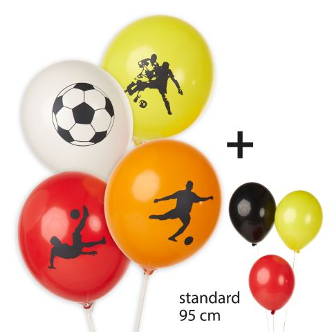 """Balloons """"Soccer motifs"""" + plain balloons"""