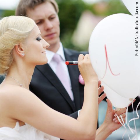 Balloon deco set: Congratulation for the bridal couple