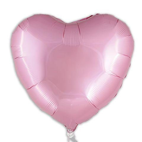 Rosafarbener Folienballon, unbedruckt.