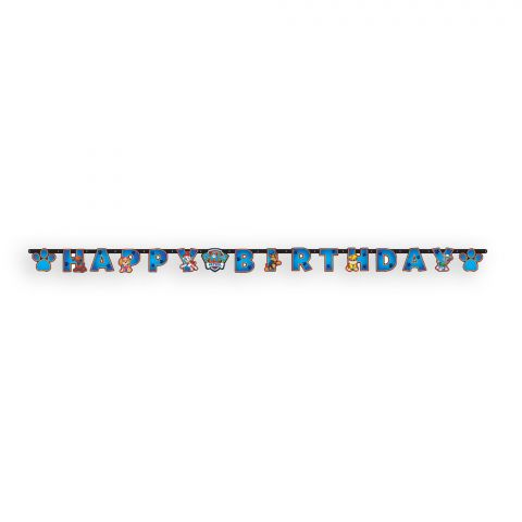 """Papier-Girlande, Partykette Paw-Patrol mit dem Schriftzug """"Happy Birthday"""""""