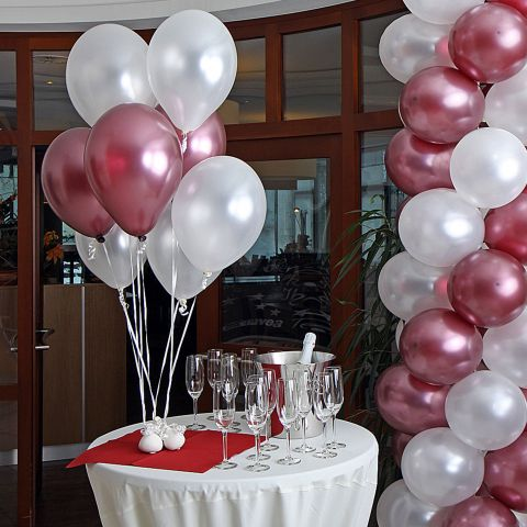 Balloon deco set for high-tables for New Year's Eve, Wedding